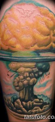Фото тату ядерный взрыв (гриб) от 01.09.2018 №027 tattoo nuclear explosion – tatufoto.com
