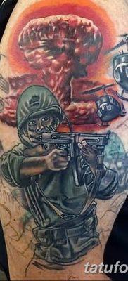 Фото тату ядерный взрыв (гриб) от 01.09.2018 №030 tattoo nuclear explosion – tatufoto.com