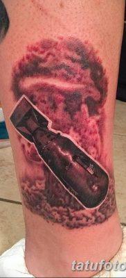 Фото тату ядерный взрыв (гриб) от 01.09.2018 №032 tattoo nuclear explosion – tatufoto.com