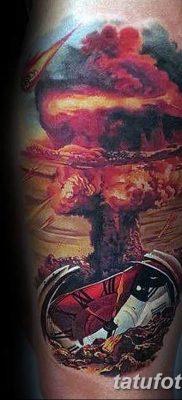 Фото тату ядерный взрыв (гриб) от 01.09.2018 №037 tattoo nuclear explosion – tatufoto.com