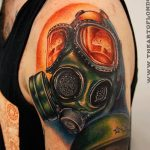 Фото тату ядерный взрыв (гриб) от 01.09.2018 №043 tattoo nuclear explosion - tatufoto.com