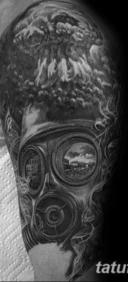 Фото тату ядерный взрыв (гриб) от 01.09.2018 №046 tattoo nuclear explosion – tatufoto.com