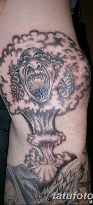 Фото тату ядерный взрыв (гриб) от 01.09.2018 №050 tattoo nuclear explosion – tatufoto.com