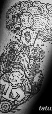Фото тату ядерный взрыв (гриб) от 01.09.2018 №053 tattoo nuclear explosion – tatufoto.com