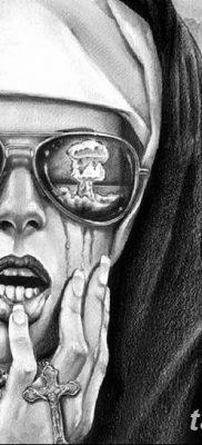 Фото тату ядерный взрыв (гриб) от 01.09.2018 №068 tattoo nuclear explosion – tatufoto.com