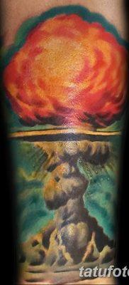 Фото тату ядерный взрыв (гриб) от 01.09.2018 №070 tattoo nuclear explosion – tatufoto.com