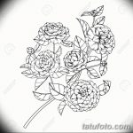 Camellia flowers drawing and sketch with line-art on white backg