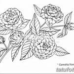 Фото эскизы тату камелия от 18.09.2018 №015 - sketches of camellia tattoos - tatufoto.com