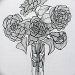 Фото эскизы тату камелия от 18.09.2018 №052 - sketches of camellia tattoos - tatufoto.com