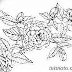 Фото эскизы тату камелия от 18.09.2018 №053 - sketches of camellia tattoos - tatufoto.com