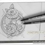 Фото эскизы тату камелия от 18.09.2018 №064 - sketches of camellia tattoos - tatufoto.com