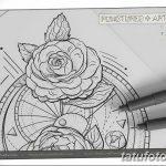 Фото эскизы тату камелия от 18.09.2018 №065 - sketches of camellia tattoos - tatufoto.com