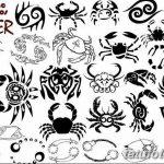 Фото эскизы тату краб рак от 11.09.2018 №006 - sketching tattoo crab cancer - tatufoto.com