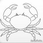 Фото эскизы тату краб рак от 11.09.2018 №009 - sketching tattoo crab cancer - tatufoto.com