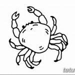 Фото эскизы тату краб рак от 11.09.2018 №010 - sketching tattoo crab cancer - tatufoto.com