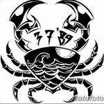Фото эскизы тату краб рак от 11.09.2018 №017 - sketching tattoo crab cancer - tatufoto.com