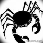 Фото эскизы тату краб рак от 11.09.2018 №018 - sketching tattoo crab cancer - tatufoto.com