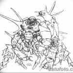 Фото эскизы тату краб рак от 11.09.2018 №022 - sketching tattoo crab cancer - tatufoto.com