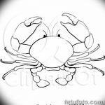 Фото эскизы тату краб рак от 11.09.2018 №026 - sketching tattoo crab cancer - tatufoto.com