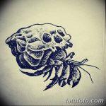 Фото эскизы тату краб рак от 11.09.2018 №030 - sketching tattoo crab cancer - tatufoto.com
