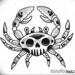 Фото эскизы тату краб рак от 11.09.2018 №031 - sketching tattoo crab cancer - tatufoto.com