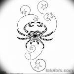 Фото эскизы тату краб рак от 11.09.2018 №033 - sketching tattoo crab cancer - tatufoto.com