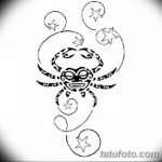 Фото эскизы тату краб рак от 11.09.2018 №037 - sketching tattoo crab cancer - tatufoto.com
