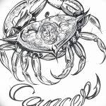 Фото эскизы тату краб рак от 11.09.2018 №042 - sketching tattoo crab cancer - tatufoto.com