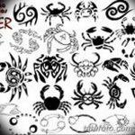 Фото эскизы тату краб рак от 11.09.2018 №052 - sketching tattoo crab cancer - tatufoto.com
