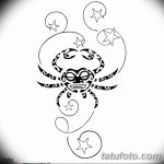 Фото эскизы тату краб рак от 11.09.2018 №056 - sketching tattoo crab cancer - tatufoto.com