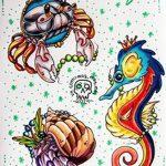 Фото эскизы тату краб рак от 11.09.2018 №061 - sketching tattoo crab cancer - tatufoto.com
