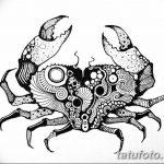 Фото эскизы тату краб рак от 11.09.2018 №062 - sketching tattoo crab cancer - tatufoto.com