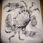 Фото эскизы тату краб рак от 11.09.2018 №064 - sketching tattoo crab cancer - tatufoto.com