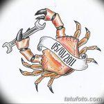 Фото эскизы тату краб рак от 11.09.2018 №066 - sketching tattoo crab cancer - tatufoto.com