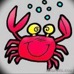 Фото эскизы тату краб рак от 11.09.2018 №070 - sketching tattoo crab cancer - tatufoto.com