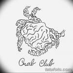 Фото эскизы тату краб рак от 11.09.2018 №087 - sketching tattoo crab cancer - tatufoto.com