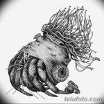 Фото эскизы тату краб рак от 11.09.2018 №090 - sketching tattoo crab cancer - tatufoto.com