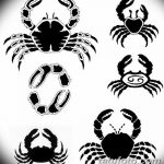 Фото эскизы тату краб рак от 11.09.2018 №094 - sketching tattoo crab cancer - tatufoto.com