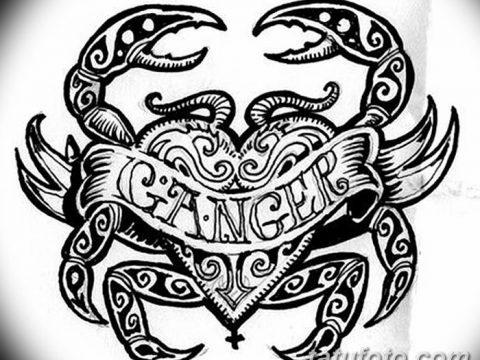 Фото эскизы тату краб рак от 11.09.2018 №095 - sketching tattoo crab cancer - tatufoto.com
