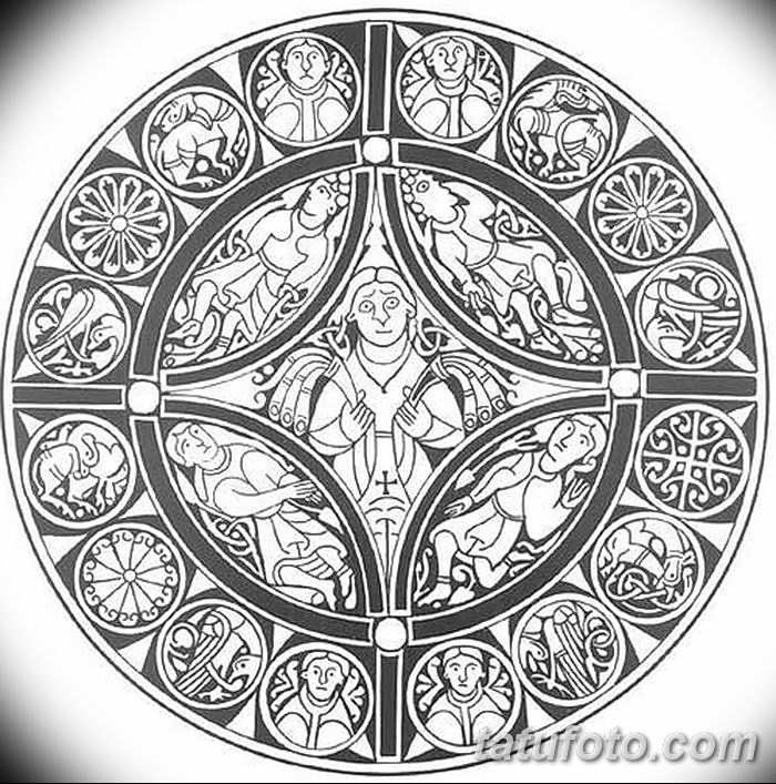Фото эскизы тату круг от 17.09.2018 №225 - sketching circle tattoo - tatufoto.com