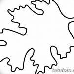 Фото эскиз тату лист дуба от 11.09.2018 №015 - sketch of tattoo oak leaf - tatufoto.com