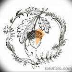 Фото эскиз тату лист дуба от 11.09.2018 №022 - sketch of tattoo oak leaf - tatufoto.com