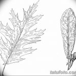 Фото эскиз тату лист дуба от 11.09.2018 №029 - sketch of tattoo oak leaf - tatufoto.com