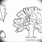 Фото эскиз тату лист дуба от 11.09.2018 №030 - sketch of tattoo oak leaf - tatufoto.com