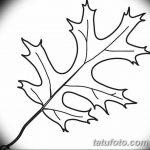 Фото эскиз тату лист дуба от 11.09.2018 №032 - sketch of tattoo oak leaf - tatufoto.com