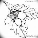 Фото эскиз тату лист дуба от 11.09.2018 №036 - sketch of tattoo oak leaf - tatufoto.com