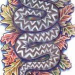 Фото эскиз тату лист дуба от 11.09.2018 №041 - sketch of tattoo oak leaf - tatufoto.com
