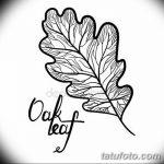 Фото эскиз тату лист дуба от 11.09.2018 №043 - sketch of tattoo oak leaf - tatufoto.com