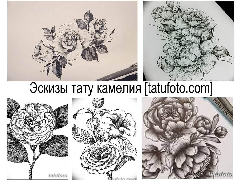 Эскизы тату камелия - коллекция рисунков для создания идеи татуировки