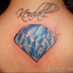Фото Тату бриллиант от 02.10.2018 №007 - Diamond tattoo - tatufoto.com